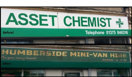 Before and after pic of asset chemist!