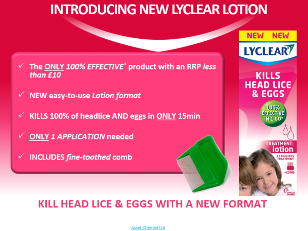 Lyclear head lice treatment kills both headlie and eggs