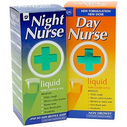 Treat flu symptoms with day and night nurse
