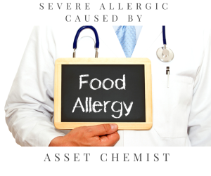 Severe allergic reaction can be caused by food